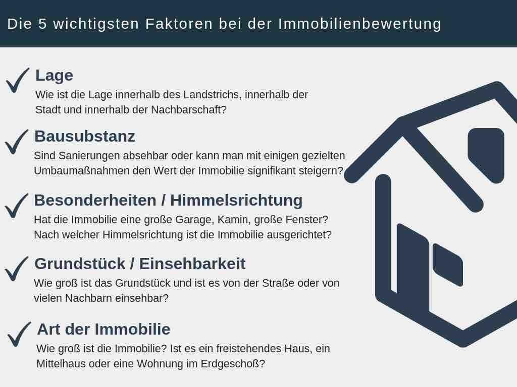 Haus verkaufen die wichtigsten Faktoren